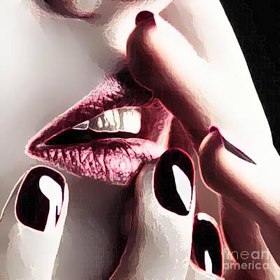 Painting - Finger Lips by Thomas Oliver