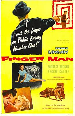 1955 Movies Photograph - Finger Man, Us Poster, Bottom Inset by Everett
