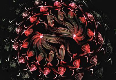 Art Print featuring the digital art Finger Painted Fractal by Lea Wiggins
