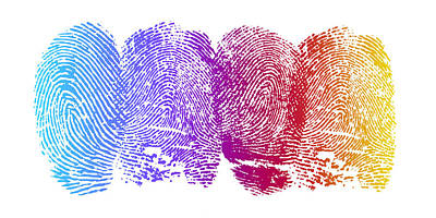 Abstract Drawings - Finger Prints by Aged Pixel