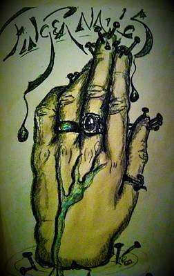 Fingernails Art Print
