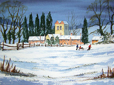 Fingest Village England  Art Print by Bill Holkham