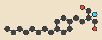 Fingolimod Drug Molecule Art Print by Molekuul