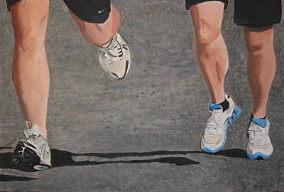 Painting - Finish Line by Betty-Anne McDonald