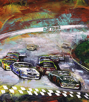 Dale Earnhardt Painting - Finish Line by Gray  Artus