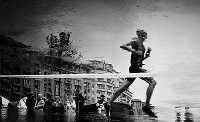 Runners Photograph - Finish Line by Mirela Momanu