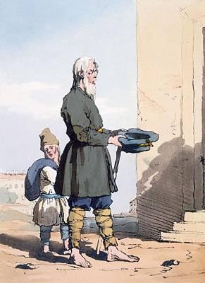 Pity Drawing - Finland Beggar by John Augustus Atkinson