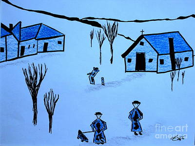 Art Print featuring the drawing Finland by Bill OConnor
