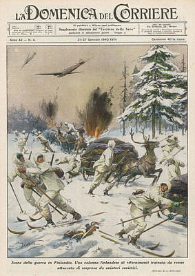 Finland  Soviet Aircraft Attack Art Print by Mary Evans Picture Library
