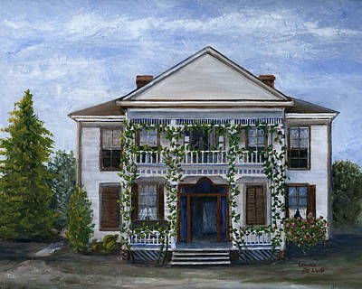 Painting - Finn Hotel Pleasant Hill Louisiana by Lenora  De Lude