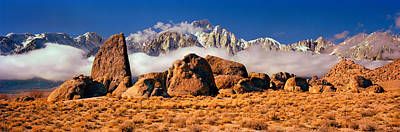 Alabama Hills Photograph - Finn Rock Formations, Alabama Hills, Mt by Panoramic Images