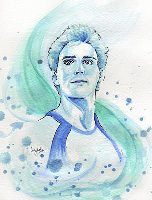 Hunger Games Painting - Finnick Odair by CJ Mars
