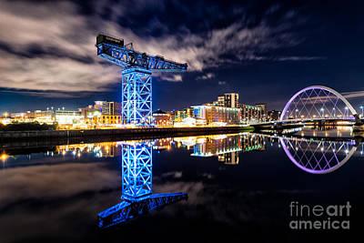 Cranes Photograph - Finnieston Crane Blue by John Farnan