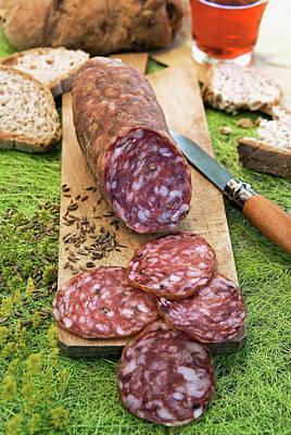 Gastronomy Photograph - Finocchiona, Tuscan Salami With Wild by Nico Tondini