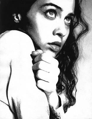 Charcoal Pencil Drawing - Fiona Apple by Justin Clark