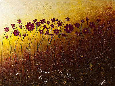 Poppies Painting - Fiori Di Campo by Carmen Guedez
