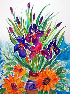 Vase Of Flowers Drawing - Fiori Fiori Fiori by Roberto Gagliardi