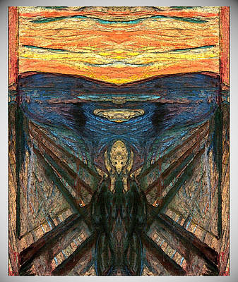 Digital Art - Fipped Munch Scream 6 by Zac AlleyWalker Lowing