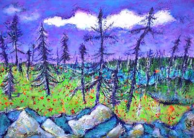 Fir Trees In The Taiga Art Print by Ion vincent DAnu