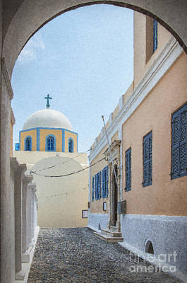 Belfry Painting - Fira Catholic Cathedral 06 by Antony McAulay