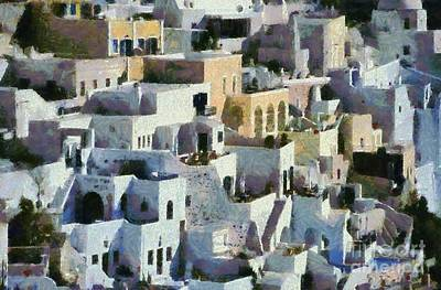 Painting - Fira Town by George Atsametakis