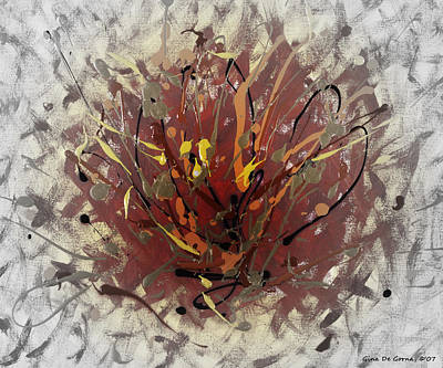Painting - Fire 2 by Gina De Gorna
