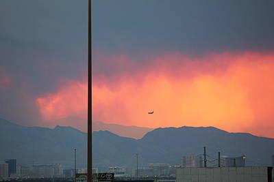 Fire Above Vegas Art Print
