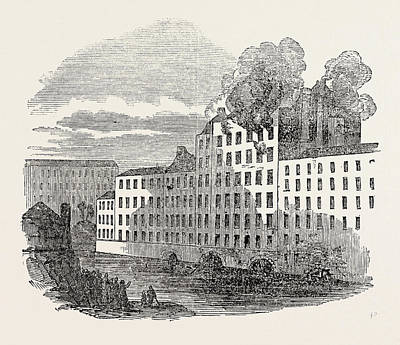 Boiler Drawing - Fire And Boiler Explosion At Marslands Cotton Factory by English School