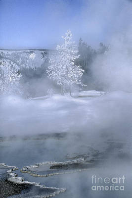 Photograph - Fire And Ice II - Yellowstone by Sandra Bronstein