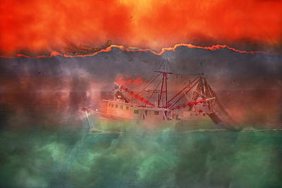 Fire And Ice Misty Morning Art Print by Betsy Knapp