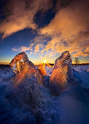 Fire And Ice Art Print by Phil Koch