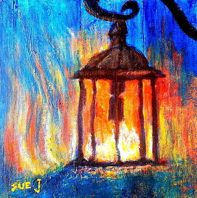 Loose Style Painting - Fire And Ice by Sue Jacobi