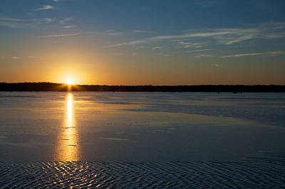 Photograph - Fire And Ice - Sunset On An Icy Lake by Jane Eleanor Nicholas