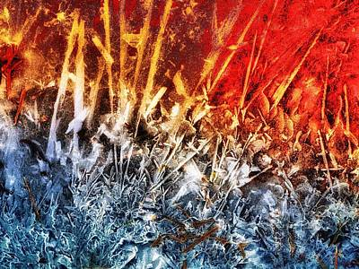 Fire And Ice  Art Print by Tom Druin