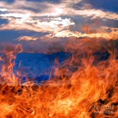 Photograph - Fire And Water by Barbie Corbett-Newmin