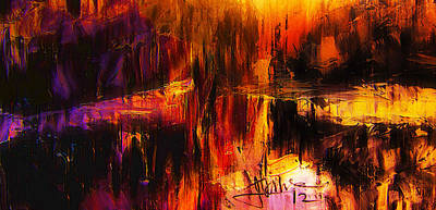 Mixed Media - Fire And Water by Jim Vance