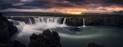 Waterfalls Photograph - Fire And Water by Stefan Mitterwallner