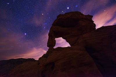 Night Sky Photograph - Fire Arch by Dustin  LeFevre