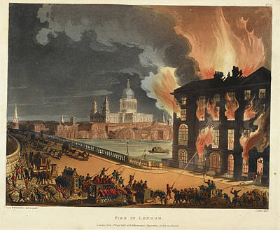 Microcosm Photograph - Fire At Albion Mill by British Library