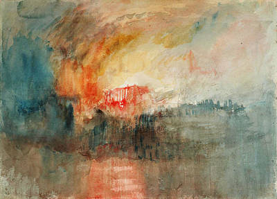Turner Artwork Painting - Fire At The Grand Storehouse Of The Tower Of London by Celestial Images