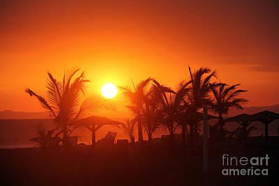 Fire Ball Sunset Art Print by Bob Hislop