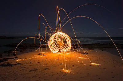 Photograph - Fire Ball by Tin Lung Chao