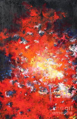 Painting - Fire Blazing In The Sky by Stefan Duncan