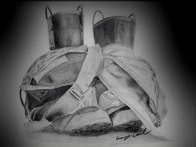 Fire Boots Vignette Art Print
