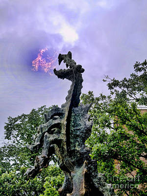 Photograph - Fire Breathing Dragow by Brenda Kean