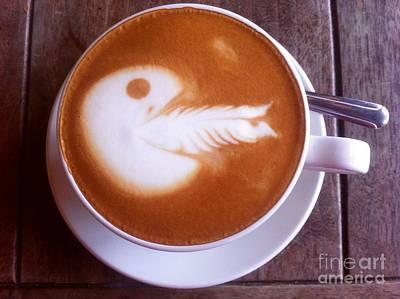 Photograph - Fire Breathing Pac Man Latte by Susan Garren