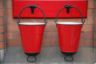 Fire Buckets Print by Mark Severn