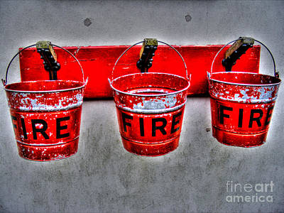 Photograph - Fire Buckets by Nina Ficur Feenan