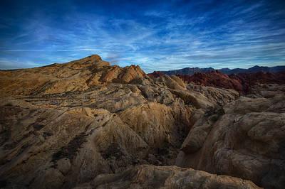 Valley Of Fire Wall Art - Photograph - Fire Canyon Twilight by Rick Berk