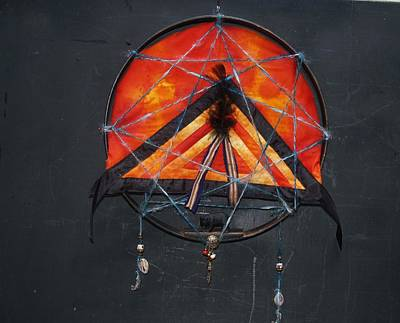 Catcher Mixed Media - Fire-catcher I by Beatriz Soco Ocampo